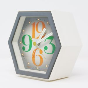 Reloj despertador Rhythm hexágono pop art