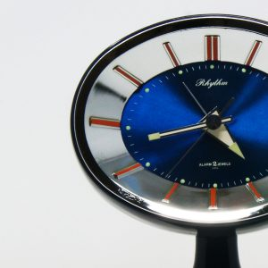 Reloj despertador vintage Rhythm tulip